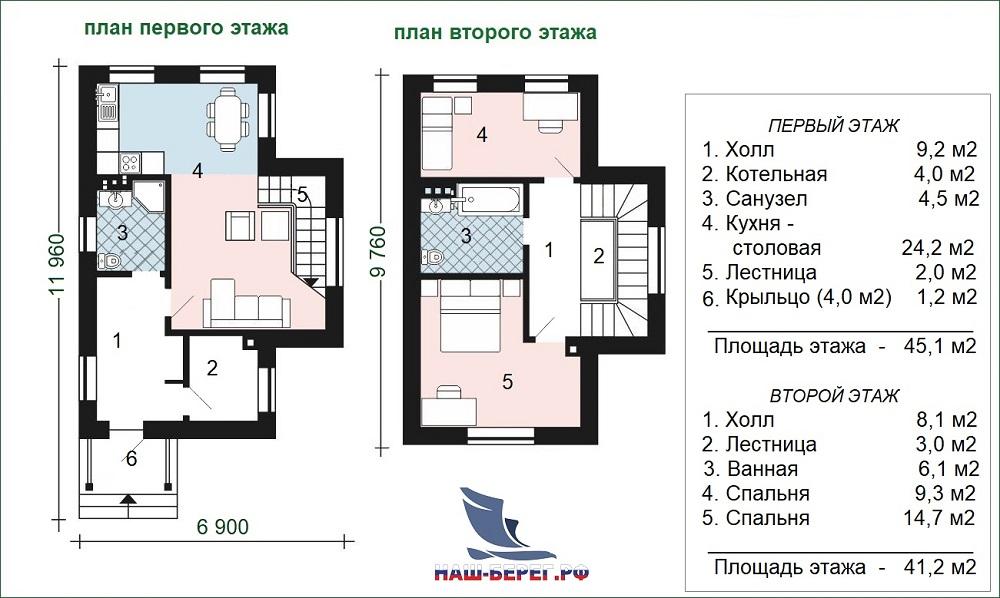 """План этажа. Проект дома """"АЛИСА"""""""