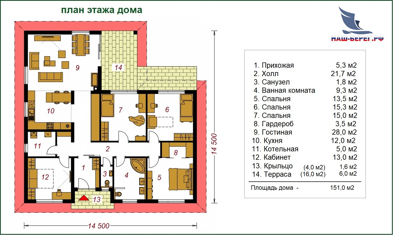"Проект дома ""АВРОРА-2"""