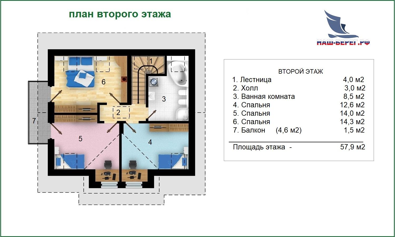 """План первого этажа. Проект дома """"ЦАРИЦЫНО"""""""