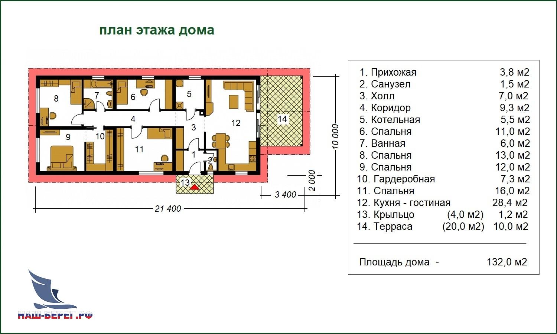 """План этажа. Проект дома """"ИРТЫШ - 1"""""""