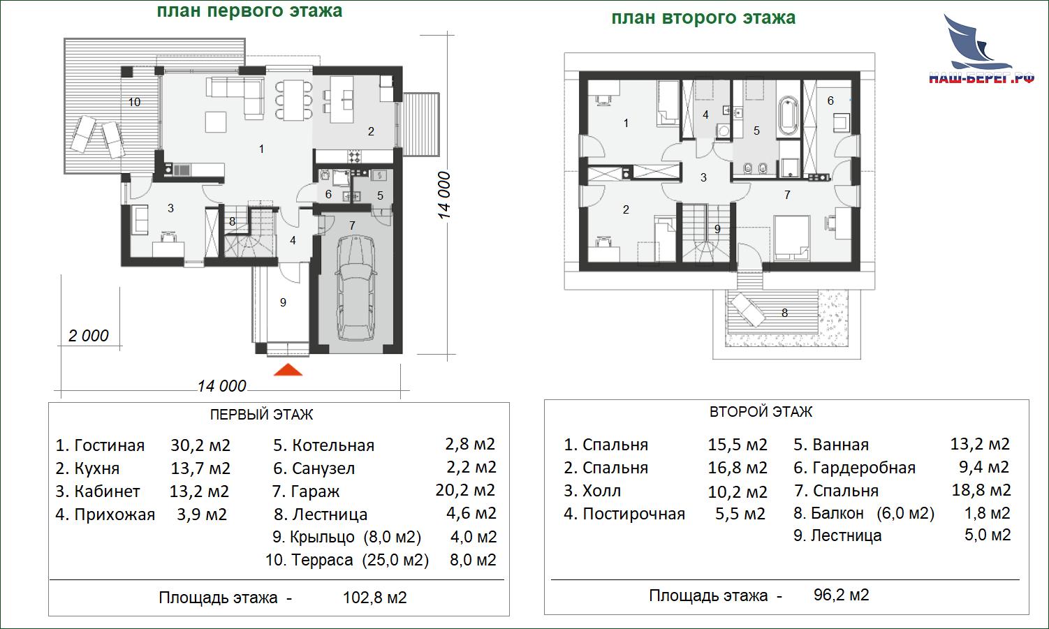 """План этажа. Проект дома """"КИСЛОВОДСК"""""""