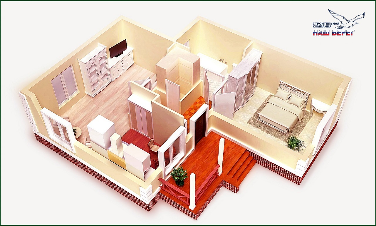 """Поэтажный план. Проект дома """"КОРАЛЛ -1"""""""