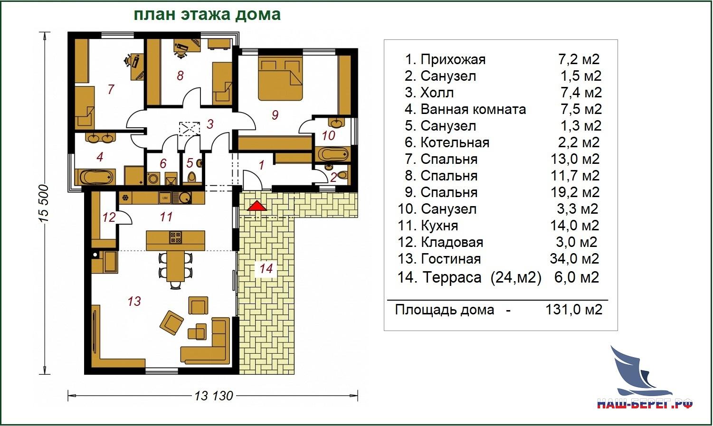 "Проект дома ""КРИСТАЛЛ - 3"""