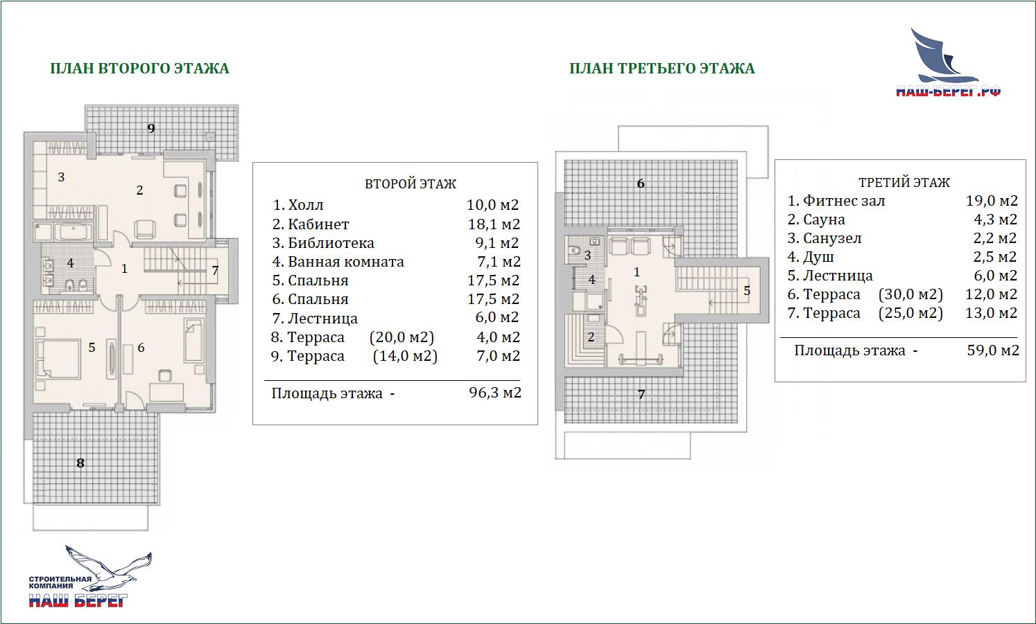 """План второго этажа. Проект дома """"ЛАЗУРИТ"""""""