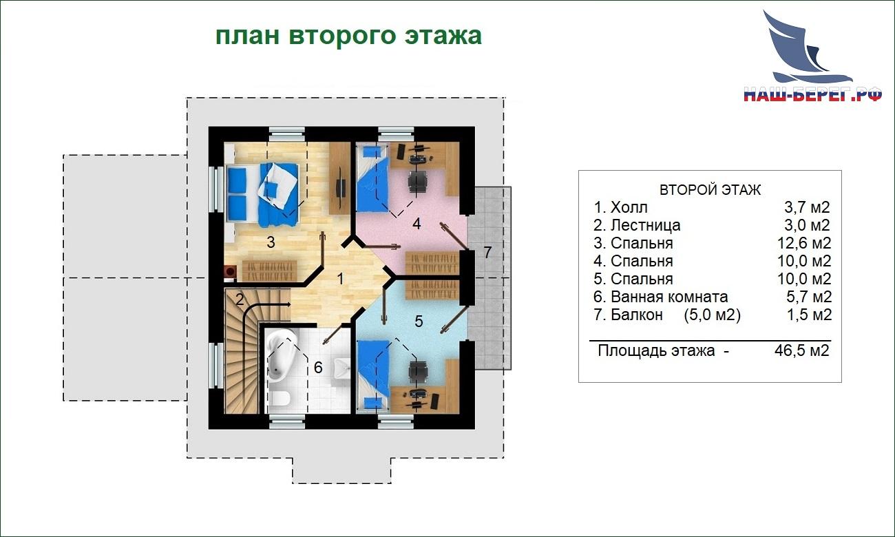 "План этажа. Проект дома ""ОЛЬХА"""