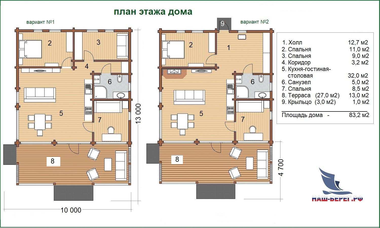 """План этажа дома. Проект дома """"СИМФОНИЯ"""""""