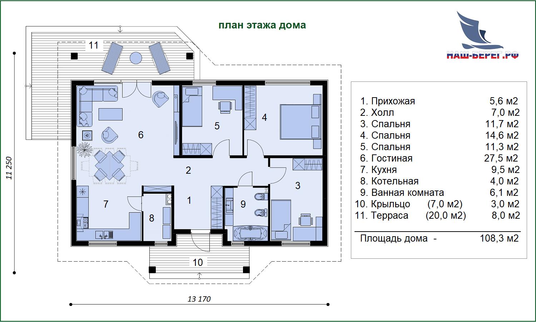 """Проект дома """"ФИОЛЕНТ"""""""