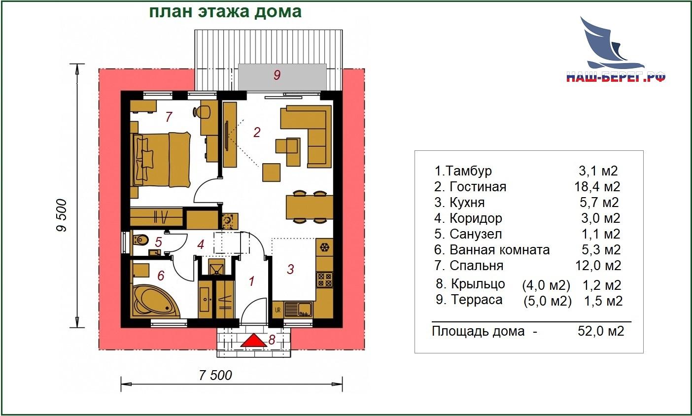 "Проект дома ""ЛАДОГА / 3"""