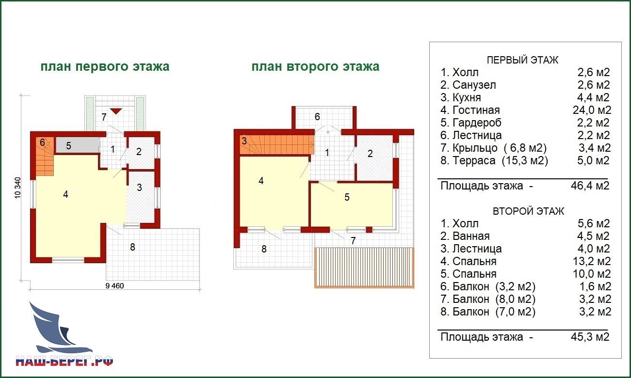 """Планы этажей. Проект дома """"ЭДЕЛЬВЕЙС"""""""