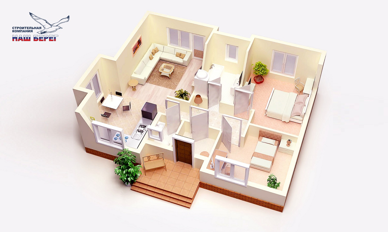 "План этажа. Проект дома ""ВОЛНА"""