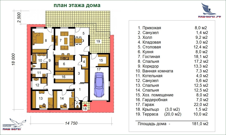 """План дома. Проект дома """"ЗАЛИВ"""""""